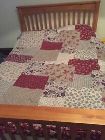 Double bed with mattress (collect end of OCTOBER )