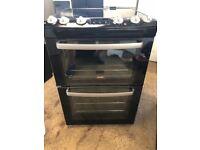 Zanussi ZCV667MNC 60cm Double Electric Cooker in Black #4973