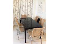 Habitat black resin dining table for sale