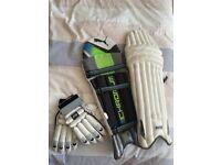 (SOLD) Puma Cricket Pads & GM Cricket Gloves