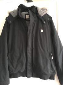 Men's black bench jacket