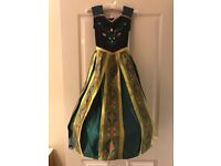 Disney Store Frozen Anna Coronation Dress with Shoes