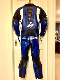 All in one motorbike leathers. Just Bikers. Size 42