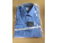 "3 x Men's work shirts, Never worn, long sleeves, men's dress shirts, regular fit, collars 15 - 15.5"""