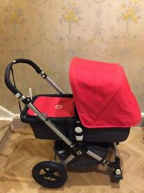 Bugaboo Cameleon with footmuff and car seat adaptors