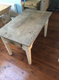 French farmhouse oak kitchen table