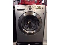 LG WASHING MACHINE 9KG SILVER RECONDITIONED