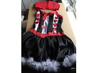 Queen of hearts fancy dress size 10ish