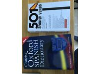 Oxford Spanish dictionary and 501 Spanish verbs
