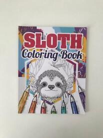 Sloth colouring book