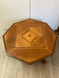 Solid wood games table
