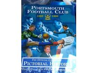 Portsmouth football club book. Signed by author