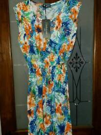 NEW WITH TAGS WOMEN'S BLUE DRESS SIZE 18