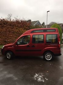 Fiat Doblo with wheelchair ramp. Low mileage, good condition with recent MOT