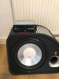 Bass box... Sub with Amp and Sony stereo
