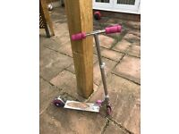 Pink child's scooter free to collector
