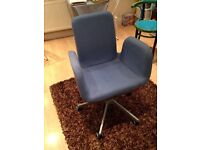 Baby Blue IKEA Mod Style Office Chair
