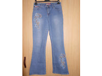 Blue jeans with models Cter size 44