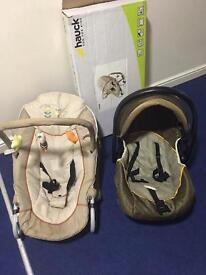 car seat and child seat with box ( huack)
