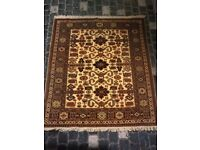 Handmade 100% woolen rug/carpet with cert