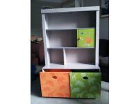Vertbaudet children's book and toy shelf - good condition