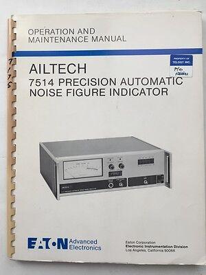 Eaton Ailtech 7514 Noise Figure Indicator Operation Maintenance Manual