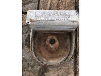 Vintage Galvanised Water/Animal Feeder/Garden Planter