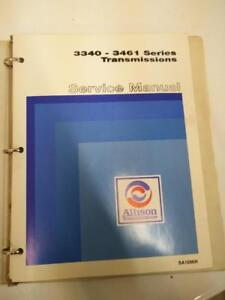 Allison Powershift Transmission 3340 - 3461 Series Service Repair Shop Manual SA1096H January 1979 Edition