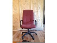 red office chair for collection only £20