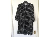 Black and white shirt dress