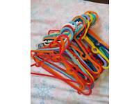 26 children's plastic hangers