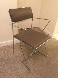 Dining armchairs leather x 4 excellent condition