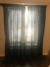 Harlequin Black Curtains Panels x2 - Custom made @ John Lewis