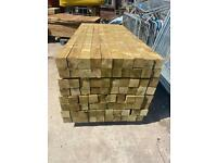 *New* Tanalised Wooden Fencing Posts - 4x4x2.4M