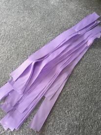 Loose wedding lavender ribbons