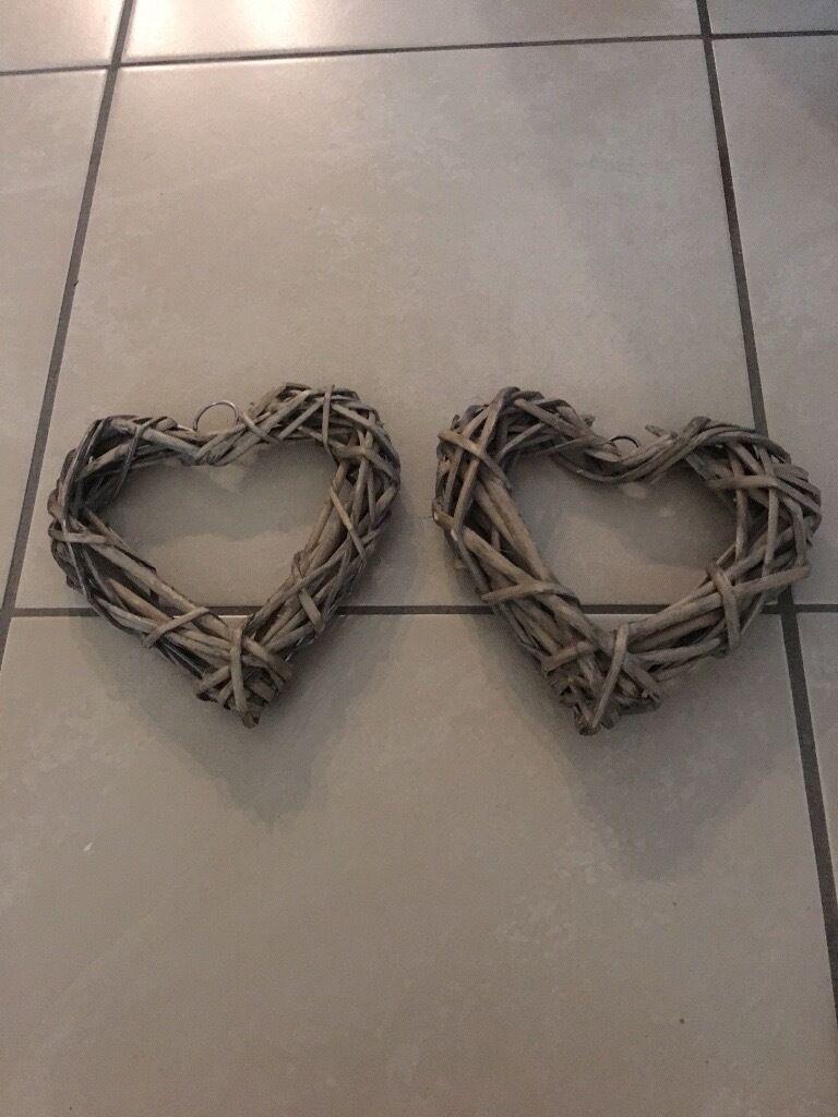 Wicker Hearts ideal for Weddings