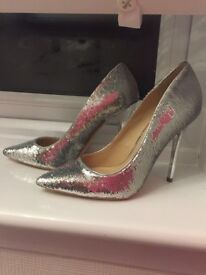Office London sequin High Heels Nearly new size 4