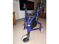 Lightweight Aluminium Folding 3 Wheel Tri Walker