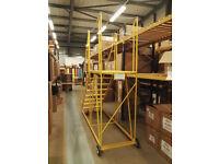 Mobile warehouse ladder