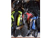 14 piece complete summer and winter motorcycle cothing collection