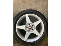 Mim alloy wheels x4 with almost new goodyear tyres