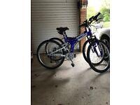 2 Fold Flat, full size mountain bikes for sale