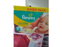 BNIB Pampers size 2