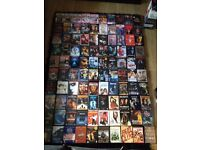 Large DVD collection over 190 films and box sets.