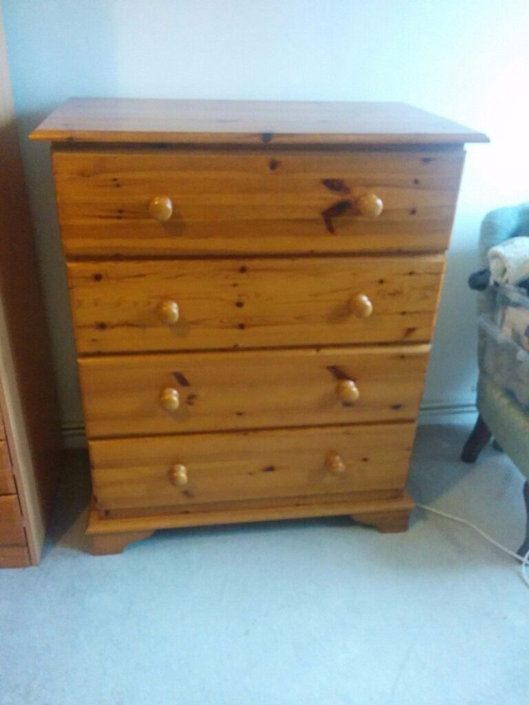 Pine chest of drawersin Clapham, LondonGumtree - Pine chest of drawers 4 drawers Free to collector Also getting rid of pine wardrobe & pine bedside table, all free Located in Balham, just off high street