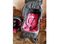 BRITAX ULTRA TRAVEL SYSTEM - PUSH CHAIR, CAR SEAT BABY CARRIER, RAIN COVER & GRACO PARASOL & COVERS.
