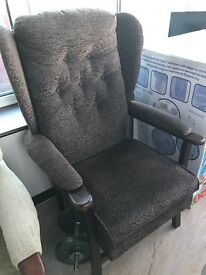 Wingback Upright Fireside chair