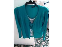 M&Co 2 in 1 green blouse