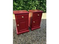Pair of Upcycled Pine cabinets