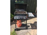 Calor gas BBQ with 2 burners complete with gas bottle